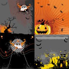 Halloween backgrounds set.