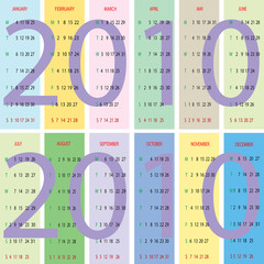 calendar 2010 with pastel background