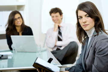 Businesswoman at meeting