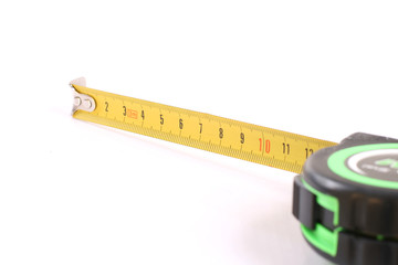 The tool for measurement of length over white.