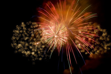 Colorful firework show