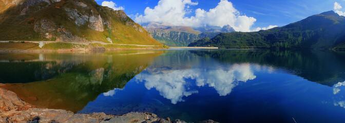Foto auf Acrylglas Reflexion Diga di Morasco Val Formazza