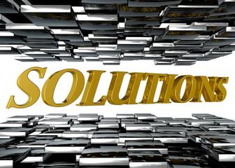 Solutions plata y oro fondo blanco