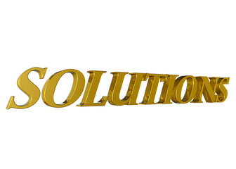 Solutions oro fondo blanco