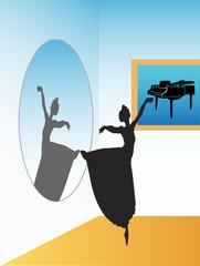 Illustration of ballerina