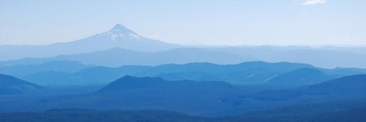 Mt Hood Above Rolling Hills