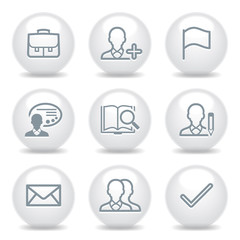 Gray icons set 1