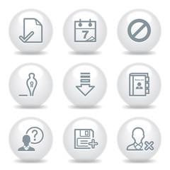 Gray icons set 2