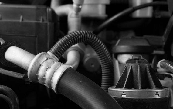 Car engine hose and parts diy maintenance