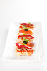 delicious tapas spanish food cousine culture isolated