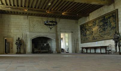 France, château de Loches, grande salle