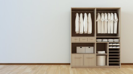 closet 3d rendering