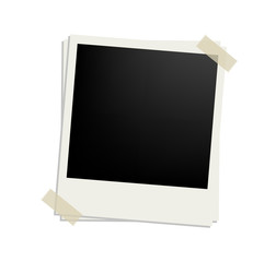 vector polaroid picture frame