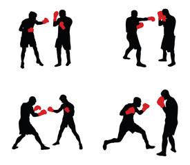 Fototapeta people boxing vector image obraz