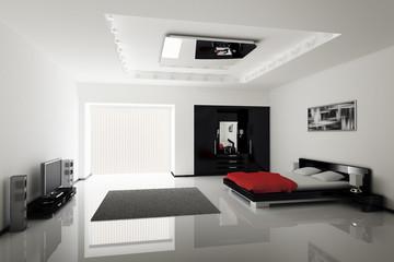 Schlafzimmer innenaufnahme 3d
