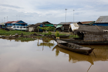 floating village kompong luong in cambodia