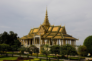 temple in the royal palace phnom penh cambodia
