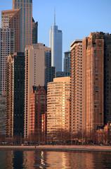 Fototapeta Chicago Skyline at Dawn