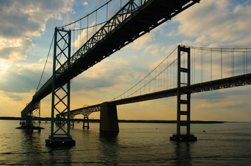 Twin Chesapeake Bay Bridges