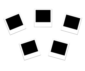 vector illustration of the five blank photo frames