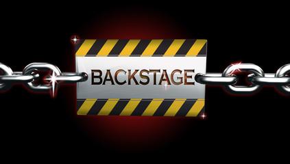 3D Backstage sign