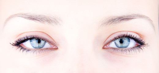 Poster de jardin Iris picture of magnificent woman's eyes