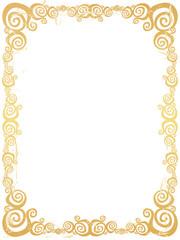 Grunge swirl frame