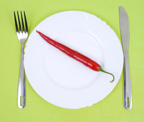 chili pepper on a plate