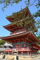 Pagoda du temple Kiyumizu-dera à Kyoto