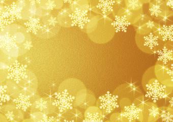 金色の雪の結晶の背景