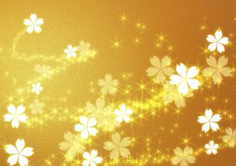 金色の桜の背景