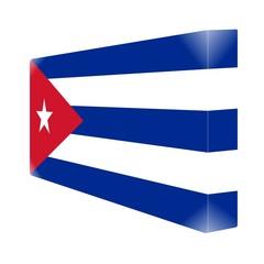 brique glassy avec drapeau cuba