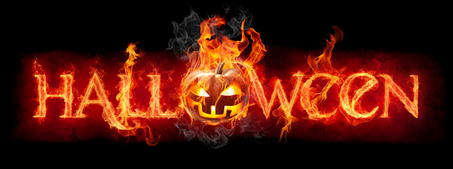 Canvas Prints Flame Halloween