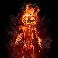 Halloween - Series of fiery illustrations
