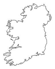 Ireland Coastline (vector)