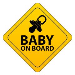 Baby on board - Schild