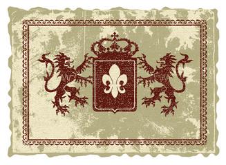 Heraldic logo.
