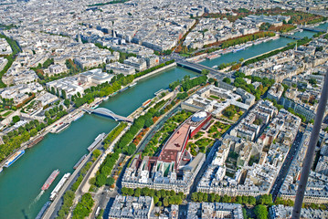 Aerial view of Paris from Eifeel Tower. France