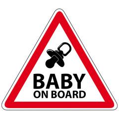 Säugling im Auto - Schild