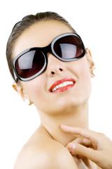 beautiful young woman with stylish sunglasses