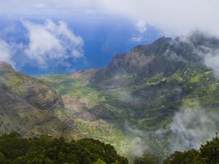 Kalalau Valley on the Napali Coast of Kauai, Hawaii