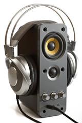 Headphones & computer speaker