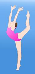 Female gymnast