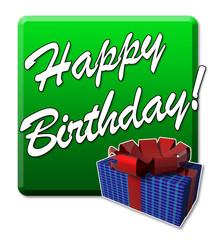 Happy Birthday! Button