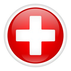 White Cross On Button