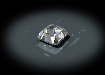 3D jewelry brilliant cut white diamond with isolation path
