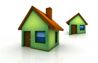 little green house - 3d render isolated illustration