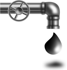 Pipe with oil
