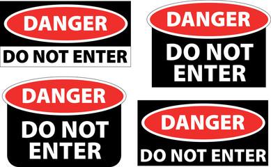 danger - do not enter
