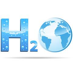 H2O - Logo blau